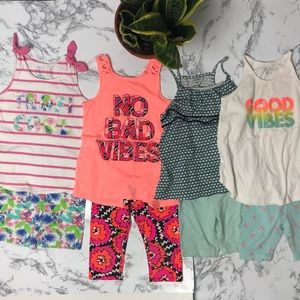 4T-5T Girls bundle lot of 8 pcs outfits summer